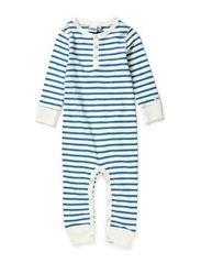 Kare bodysuit - Offwhite/steel blue