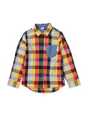 Keanu shirt l/s - Worker check beige/tomato