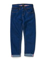 Kevin denim pant worker style - Medium blue denim rinse wash