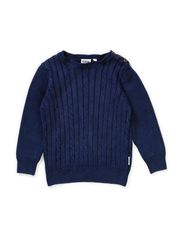 Nat cable knit sweather - Indigo blue