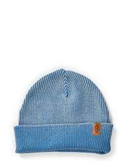 Knit fishermans hat - Steelblue