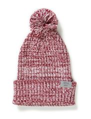 Nod Pom pom, knitted hat - Heather lilac/Pink nude