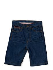 Ludde Denim shorts - 11 dark denim rinse wash