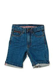 Ludde Denim shorts - 12 light denim rinse wash