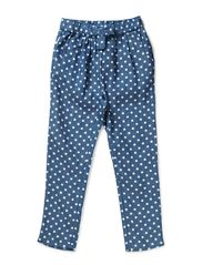 Loreen  Low crotch pant - 79 blue/white dot