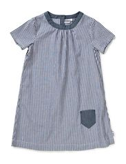 Lily A-line dress - 74 blue/white stripe