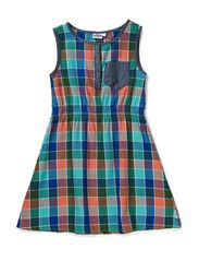 Linda Dress with waist - 47 Multicolour check