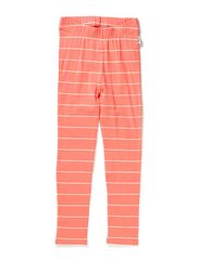 Laika  Leggings with cuff - 42 Coral/vintage white stripe