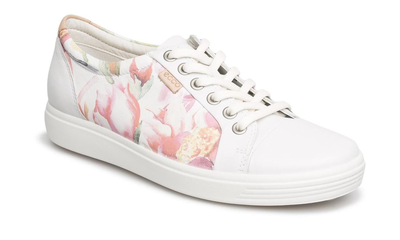 ecco soft 7 ladies white floral print white powder official uk online shop. Black Bedroom Furniture Sets. Home Design Ideas