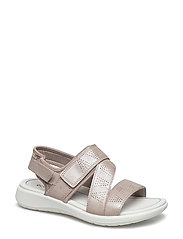SOFT 5 SANDAL - MOON ROCK/SILVER