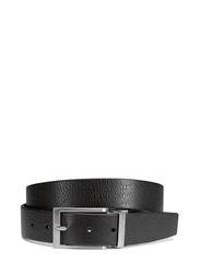Sporty Belt prongue buckle - BLACK/COFFEE