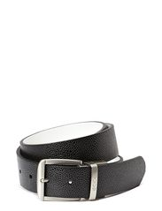 Dailey Mens Belt - BLACK/WHITE