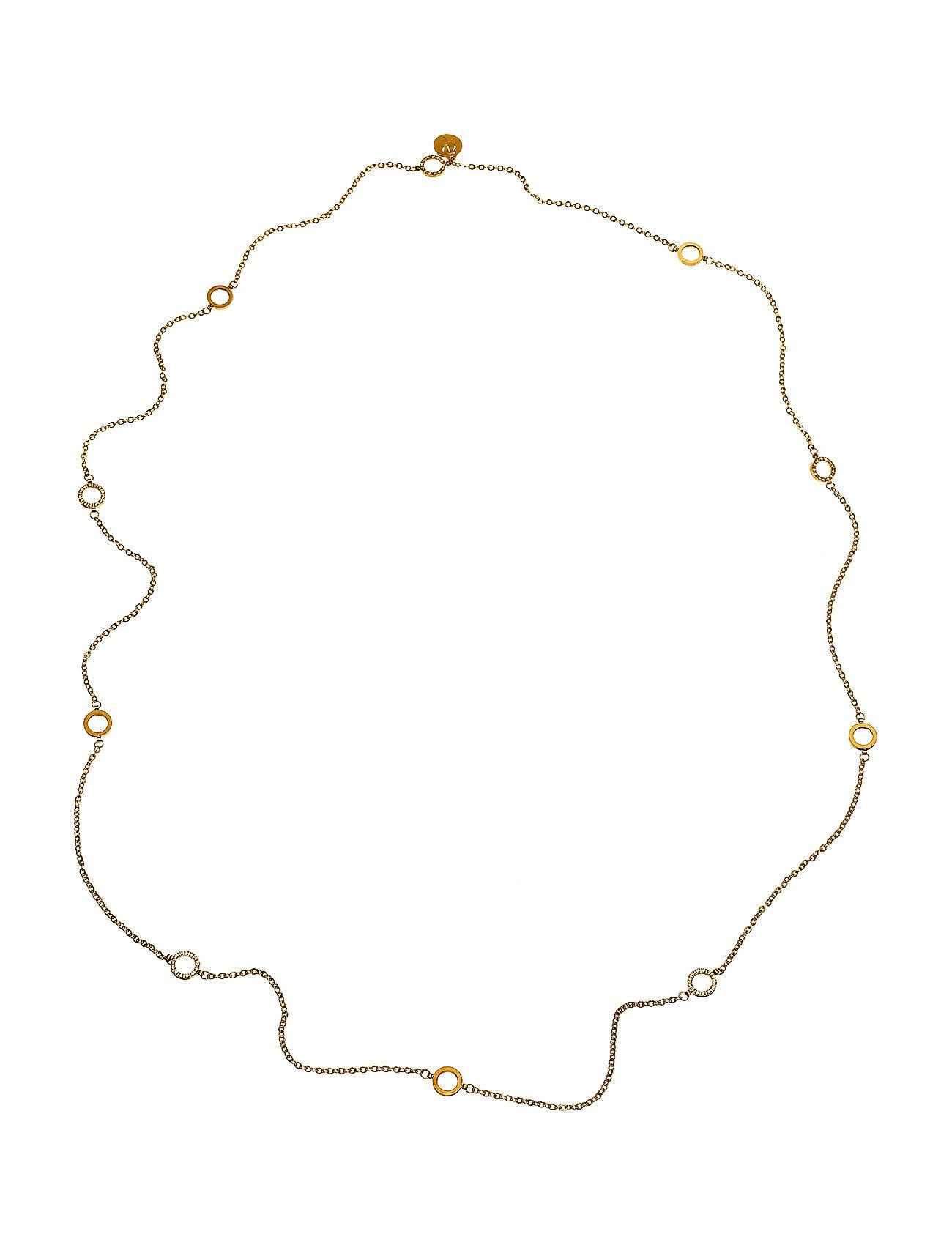 Glow Necklace Mini Multi Edblad Smykker til Kvinder i Guld