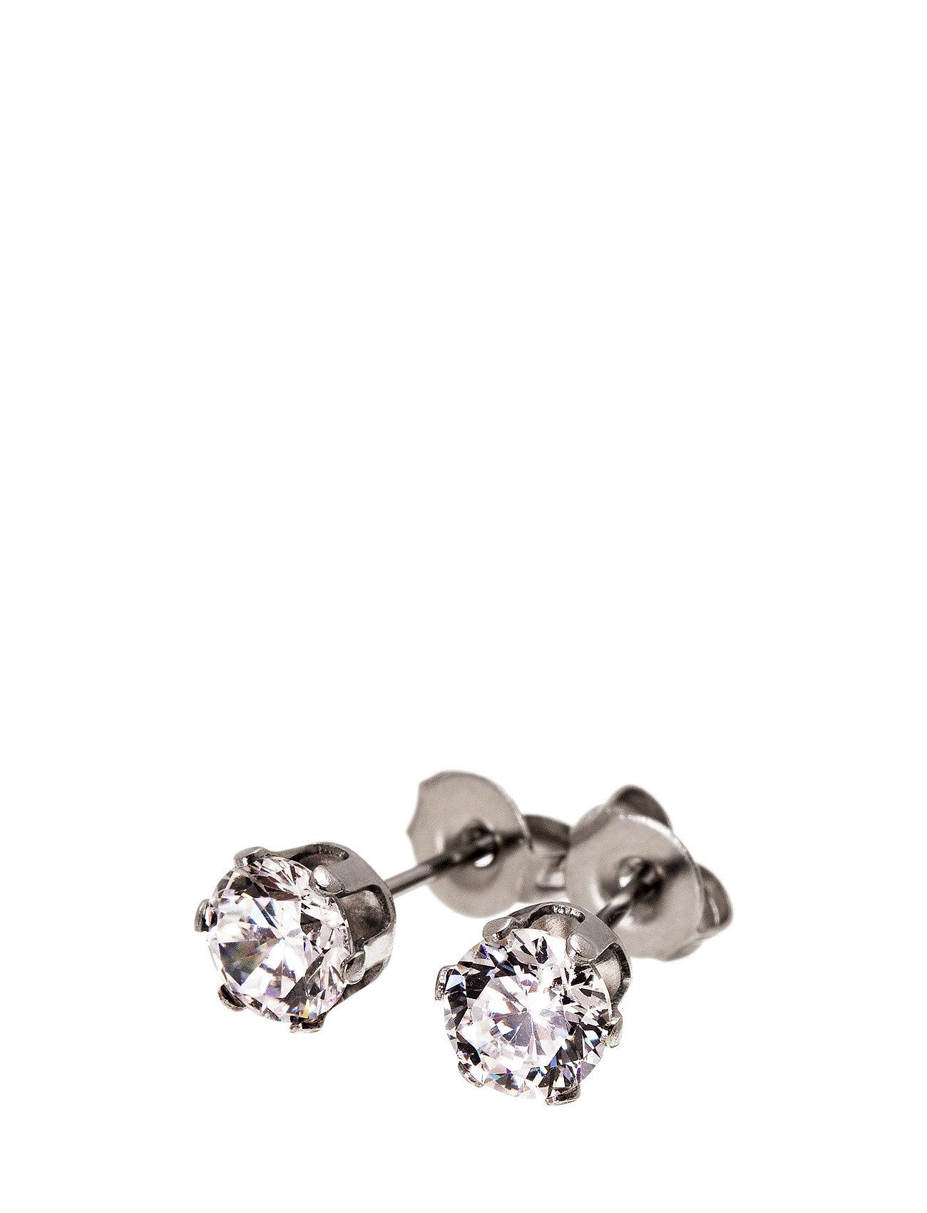 Crown Studs Steel Edblad Smykker til Kvinder i Stål