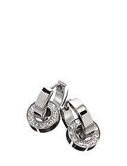 Eternity orbit earrings - STEEL