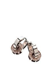 Eternity orbit earrings - STEEL/ROSE GOLD