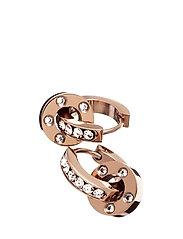Ida orbit earrings - ROSE GOLD