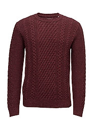 United Sweater - CORDOVAN MARL GARMENT WASHED