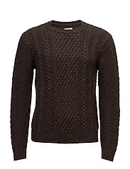 United Sweater - DARK BROWN MARL GARMENT WASHED