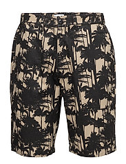 Labour Short - BEIGE/BLACK PRINT