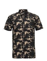 Nimes Shirt SS - BEIGE/BLACK PRINT