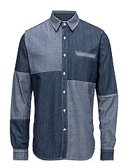 Better Shirt Plain Chambray - BLUE ENZYME STONE WASHED