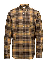 Standard Shirt Herringbone brushed - MUSTARD GARMENT WASHED