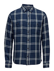 Labour Shirt - BLUE INDIGO GARMENT WASHED