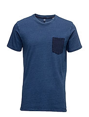 Edwin Pocket T-Shirt - MID INDIGO