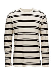 Terry Striped TS LS - GARMENT WASHED
