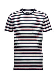 Pocket TS Striped - GARMENT WASHED