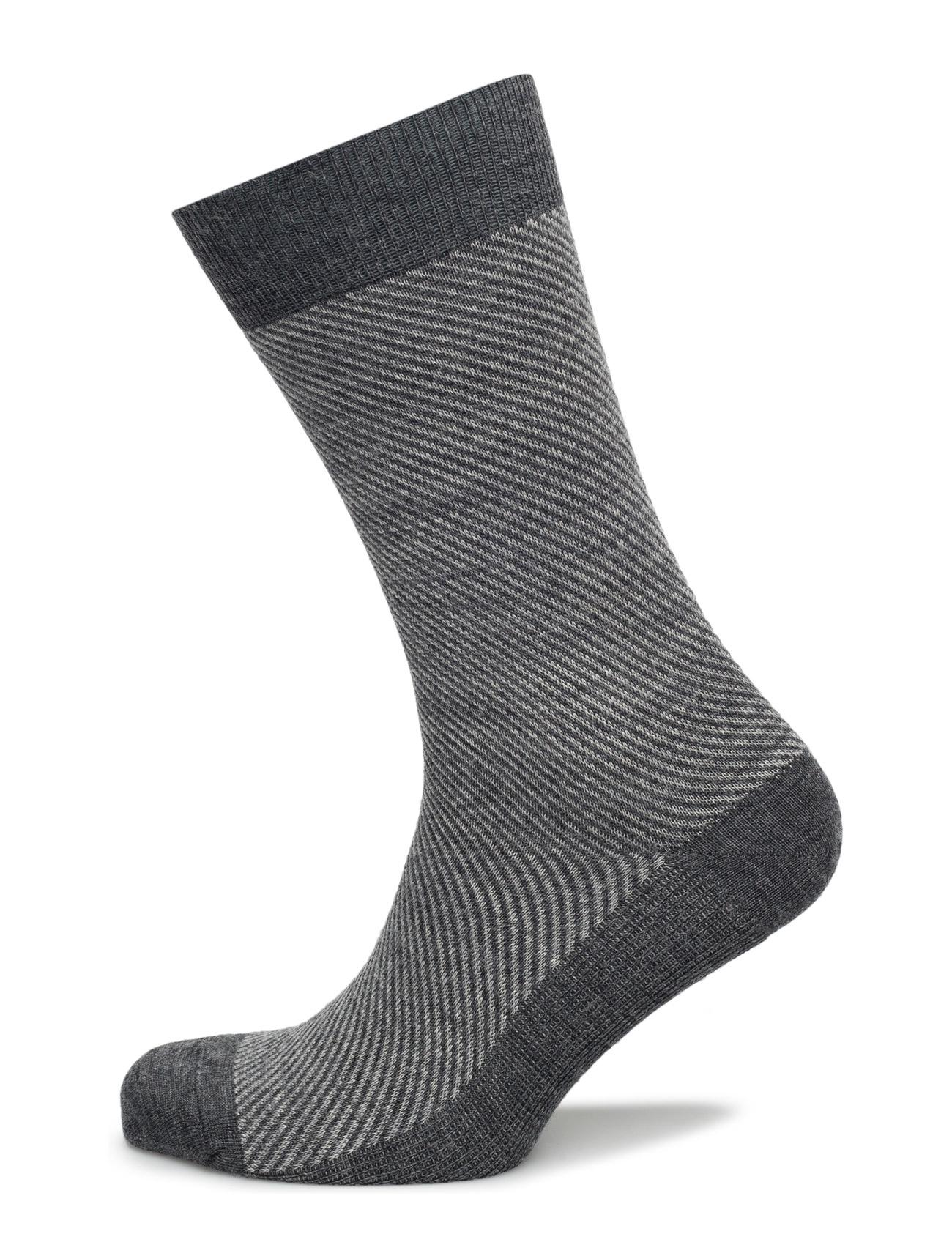 Egtved Socks Jacquard Wool Egtved Sokker til Mænd i Sort