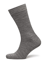 TWIN-FACE PLAIN-SOCKLET C/WOOL - black/print
