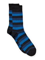 Twin-sock 2 colour ringles - navy