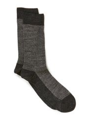 Wool Jacquard dots - Black tryk
