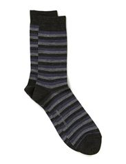 Twin-sock 3 colour ringles - Black tryk