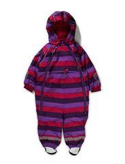 Striped Baby Winter Suit - Cerise