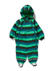 Striped Baby Winter Suit - Island Green