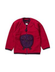 Owl Fleece Jacket - Cerise