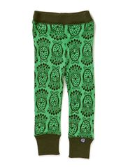 Owl Wool Leggings - Island Green