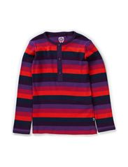 Organic Striped T-shirt l/s - Crown Jewel