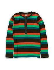 Organic Striped T-shirt l/s - Rosin Green