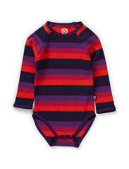 Organic Striped Body L/S - Crown Jewel