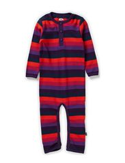 Organic Striped Cottonsuit - Crown Jewel