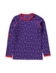 Owl T-shirt l/s - Deep Lavender