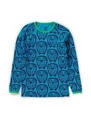 Owl T-shirt l/s - Turquoise