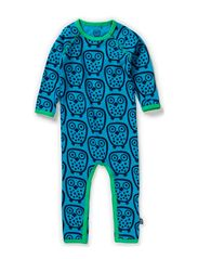 Owl Cottonsuit - Turquoise
