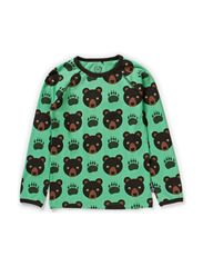 Bear T-shirt l/s - Sprout Green