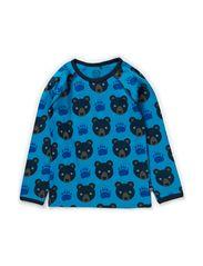 Bear T-shirt l/s - Turquoise