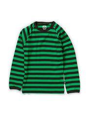 Basic Striped T-shirt l/s - Rosin Green